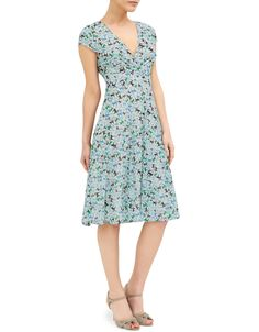 Exclusively designed by Daniella Helayel for Monsoon. A signature style that complements any figure, the Renata dress is printed with an all-over graphic mot...