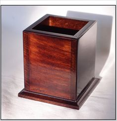 Square Wooden Pencil Holder  rosewood by GeoSpyorg on Etsy