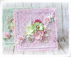 Scrap Art by Lady E: Pink & Mint - 2 Pastel Cards - Wild Orchid Crafts ...