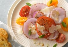 Grilled Onion and Tomato Salad -- a perfect Mrs. Dash recipe - mrsdash.com #saltsubstitute #nosalt #grilling