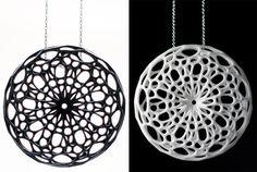 Cellular Pendant 3D Printed Jewelry