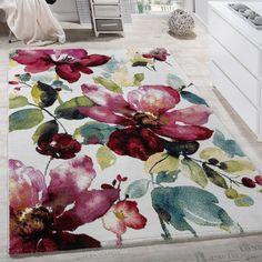 Designer Teppich Modern Mit Konturenschnitt Karo Muster Grau Schwarz Grn Wohn Und Schlafbereich Teppiche