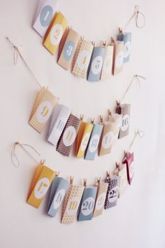 FREE printable Christmas advent calendar from monsiuerplusmadame