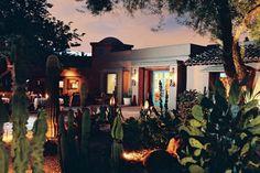 The gorgeous grounds of the luxury pet-friendly Hermosa Inn, Paradise Valley, AZ. A LuxuryPAW Member Property. Scottsdale Hotels, Scottsdale Arizona, Valley Village, Fu Dog, Southwestern Art, Pet Friendly Hotels, Hacienda Style, Paradise Valley, Most Haunted