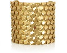 Roberto Cavalli Beehive gold-plated cuff