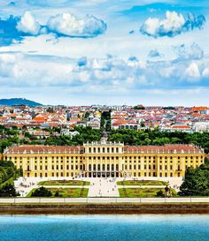 Beautiful View of Famous Schonbrunn Palace with Great Parterre garden in Vienna, Austria | 30+ Truly Charming Places To See in Austria