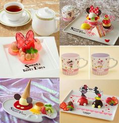 Mickey Mouse and Minnie mouse hightea at Tokyo Disney Hotel. Limited edition