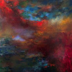 """Rikka Ayasaki,  artist. """"Passions 7035"""",   100x100cm,  Painted in 2013,  acrylic on canvas."""