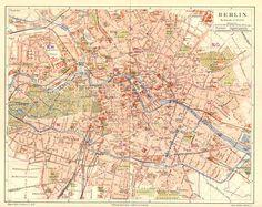 Berlin Map Berlin Blueprint Map Vintage Map Of By WaterColorMaps - Vintage map berlin