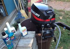 How to winterize a small outboard. #BoatTrader