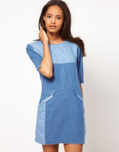 I love denim dresses.