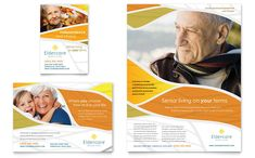 Assisted Living Flyer and Ad Template Design by StockLayouts
