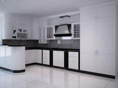 Kitchen set Black and White