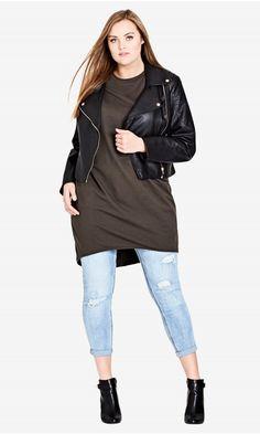 Shop Women's Plus Size Oversize Longline Top - Tops | City Chic USA