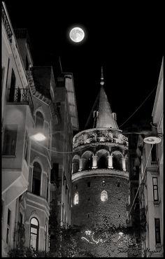 """Galata Tower Istanbul"" by Sadettin Uysal, via 500 . Travel Wallpaper, Galaxy Wallpaper, Cool Wallpaper, News Wallpaper, Places Around The World, Around The Worlds, Travel Illustration, Turkey Travel, Travel Posters"