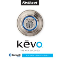 Kwikset Kevo Deadbolt.  Your smart phone is now your key.