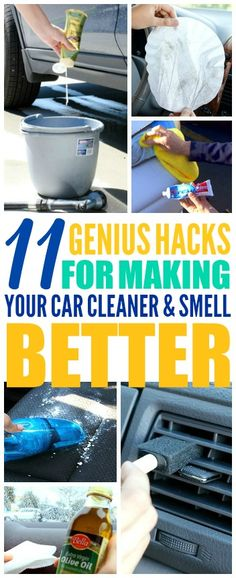 These 11 Time Saving Car Hacks are THE BEST! I'm so HAPPY I found these GREAT tips! now I have some great ways to keep my car clean and organized! Definitely pinning!
