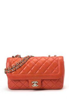 Vintage Chanel Lambskin Matelasse Double Chain Shoulder Bag by LXR on @HauteLook