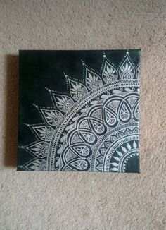 mandala painting, mandala on canvas, henna canvas, wall mandala, henna art Mandala Art, Mandala, Canvas, Art Projects, Custom Canvas, Canvas Art, Art Inspiration, Henna Art, Canvas Painting