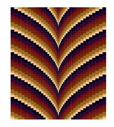 Looking for your next project? You're going to love Autumn Points Bargello Pattern King size by designer Kristine Hatch. - via @Craftsy