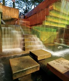 Peavey Plaza was designed by M. Paul Friedberg and sits adjacent to the Nicollet Mall, Minneapolis.