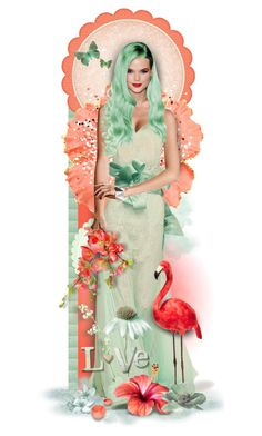 """""""Coral & Mint - Winner's Set"""" by tracireuer ❤ liked on Polyvore featuring art"""