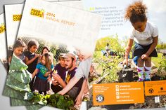 New design work from Stone Soup Creative - FoodCorps 2014 annual report - @juliareich http://www.stonesoupcreative.com/portfolio/foodcorps/