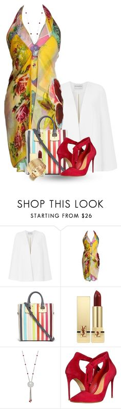 """""""Summer Date Attire"""" by flowerchild805 ❤ liked on Polyvore featuring Amanda Wakeley, Jean-Paul Gaultier, Sophie Hulme, Yves Saint Laurent and Schutz"""
