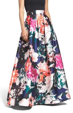 Eliza J Floral Ball Skirt