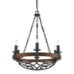 Vargas Collection 6-Light Black Iron Chandelier-826MPBI - The Home Depot