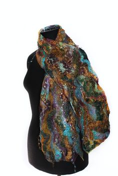 Textured Felted Scarf