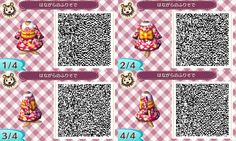 Cute Kimono Dress Animal Crossing New Leaf Qr Code