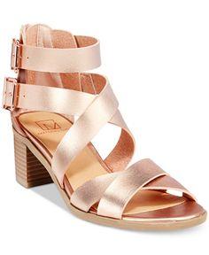 Material Girl Danee Block Heel City Sandals, Only at Macy's