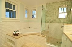 This layout lets you keep the tub you have and re-do the surround.  :)  @Abigail Phillips Brooks Torrence