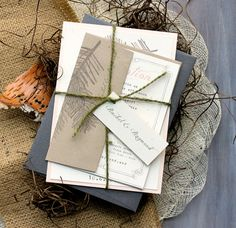 Rustic Wedding Invitations Wedding Invitations by BeaconLane, $100.00
