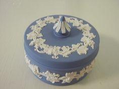 Wedgewood blue Jasperware trinket box