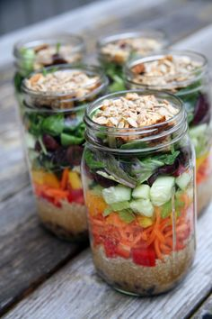 40 Minutes of Prep + 5 Mason Jars = the Best Weight-Loss Lunch All Week Sauteed Tofu, Prepping, Meal Prep, Mason Jar Salads, Mason Jars, Losing Weight, Weight Loss Tips, Kitchen Hacks, Diy Kitchen