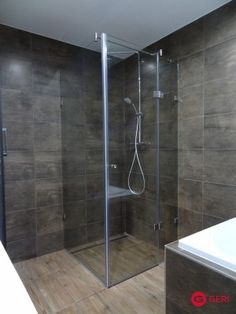Sklenený sprchovací box s otváracími dverami Bathtub, Bathroom, Box, Standing Bath, Bath Room, Bath Tub, Bathrooms, Boxes, Bathtubs