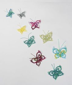 Your place to buy and sell all things handmade Tatting Tutorial, Lacemaking, Thread Art, First Round, Tatting Patterns, Creative Thinking, Beautiful Butterflies, Needlework, Wings