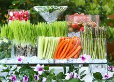 modern veggie tray