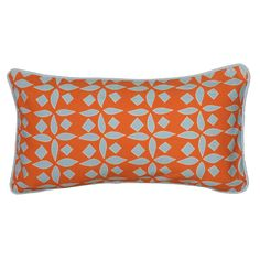This pillow is made with a cotton fabric cover with a geometric pattern, creating a unique look. The hidden zipper allows you to remove the insert for easy cleaning.