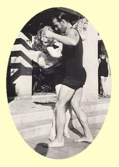 pictures of rudolph valentino   found this fun picture of Rudolph Valentino teaching Marion Davies ...