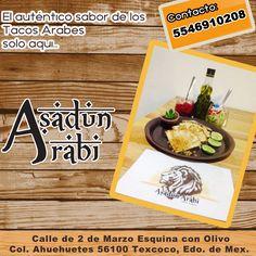 ¿Se te antojaron unos tacos? No busques más.. Cuando de tacos se trata, nosotros somos los mejores en tacos árabes.. Y con servicio a domicilio. https://www.facebook.com/profile.php?id=100009658290236&fref=ts http://negocilibre.com/directorio/asadun-arabi/