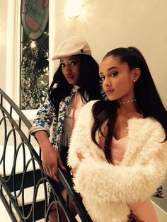 @MrRPMurphy Ariana and Keke Staircase Slay on the set of Scream Queens