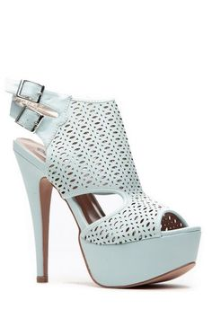 69238ac3cc Buy Mint Cut Out Double Sling Back Heels with cheap price and high quality  from Cicihot Heel Shoes online store which also sales Stiletto Heel Shoes