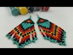 Guidecentral is a fun and visual way to discover DIY ideas learn new skills, meet amazing people who share your passions and even upload your own DIY guides. Seed Bead Earrings, Beaded Earrings, Crochet Earrings, Bead Embroidery Jewelry, Beaded Embroidery, Beaded Jewelry Designs, Earring Tutorial, Native American Fashion, Beaded Brooch