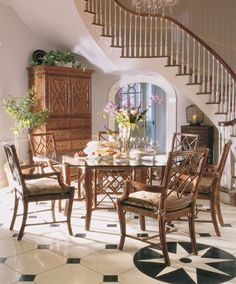 Marseille Collection Dining Table And Chairs Showroom Details Gorgeous Henredon Dining Room Chairs Inspiration Design