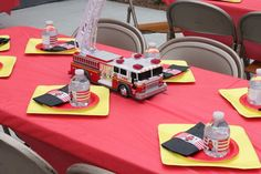 Are you ready to plan that birthday party now? You'll find hum dingers and bell ringers in this fireman and fire truck birthday party round-up! Fireman Party, Firefighter Birthday, Fireman Sam, Fireman Crafts, 4th Birthday Parties, Boy Birthday, Birthday Ideas, Birthday Cake, Firefighter Baby Showers