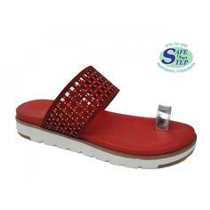 SAFE STEP 0192 Red δέρμα