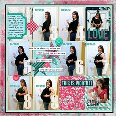 #papercraft #scrapbook #layout. The Belly Bump: My Second Pregnancy by amschneid @2peasinabucket
